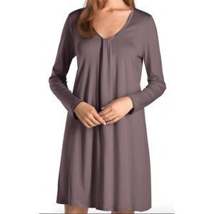 NWT Hanro Astrid Long Sleeve Nightgown Berry S